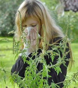 У девушке аллергия на цветение