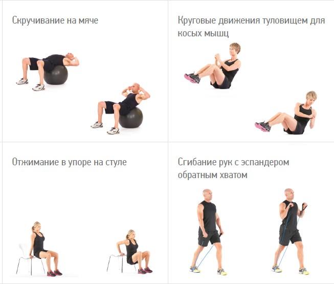 как похудеть в области груди и плечах