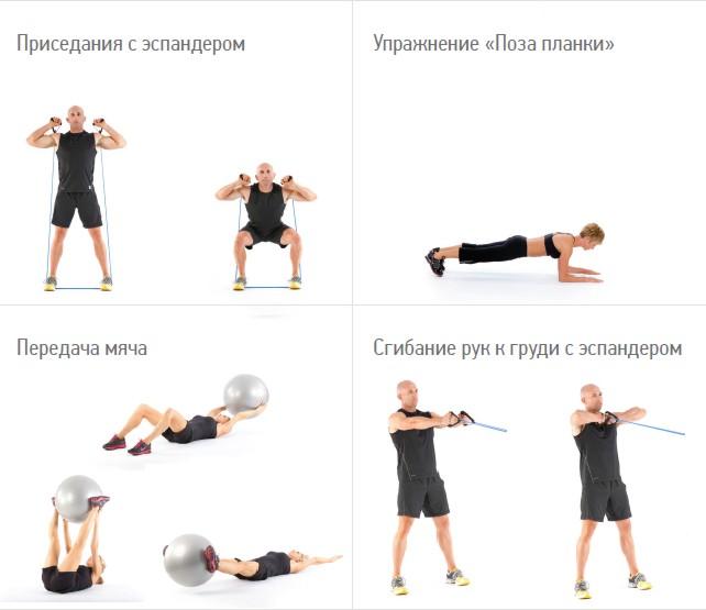 Физические упражнения для похудения (фото) Приборы Паркес и компания КСАНГО