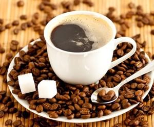 Кофе в чашке с сахаром