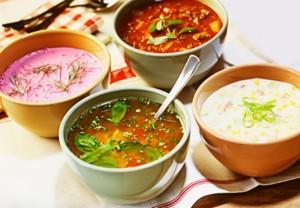 Супы и борщ в пиалах