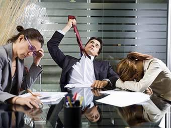 Темп, давление, обязательства приводят к стрессу