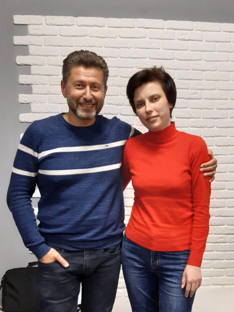 Елена Семенюк с Олегом Линецким